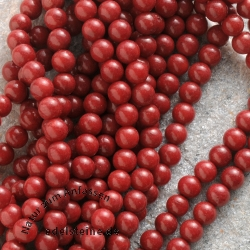 Coral Gemstone Beads Ball 5-6mm 40cm