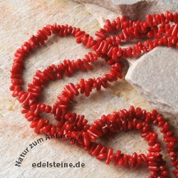 Red Coral Gemstone Beads stick