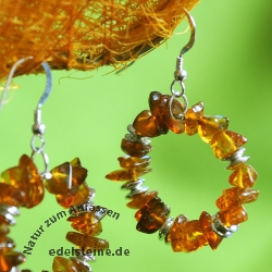 Earhooks with Amber round