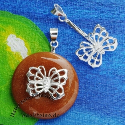 Donuthalter Butterfly aus Silber