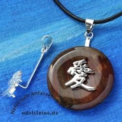 Donuthalter chinesisch Liebe Silber 925