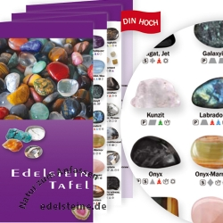Gemstone Table Leaflet 100 pieces