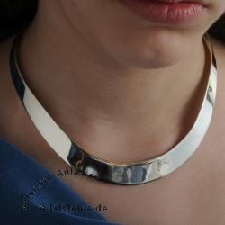 Halsreif aus Silber sehr breit XXL Breite