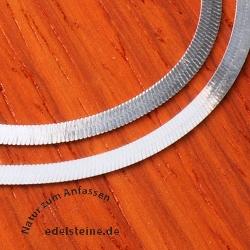 Halsband aus Silber 925 Silberkette breit Silberband