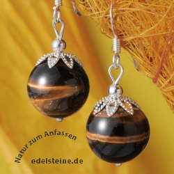Earpendant with Tiger Eye