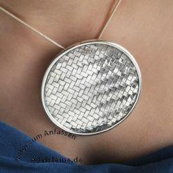 Silver Pendant Woven