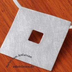 Silber Anhänger Quadrat BIG