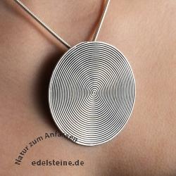 Silber Anhänger Spirale RIESIG