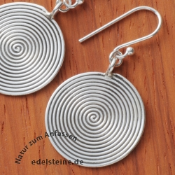 Silver Earpendant spiral