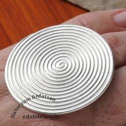 Silberring RIESEN-Spirale