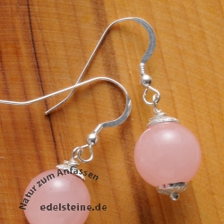 Rose Quartz Ear Pendants