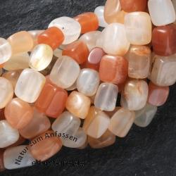 Mondstein Perlen Quader 9x6x6mm