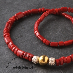 Coral Gemstone Design Necklace