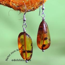 Ear Pendant Amber