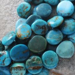 Türkis Perlen Disc 15mm