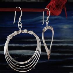 Silber-Ohrring Drahtspule
