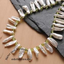 Necklace Shell with Peridot