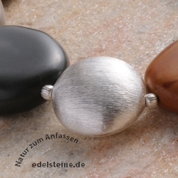 Silver Bead handmade 18mm Sterlingsilver