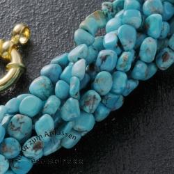 Türkis Perlen 4mm