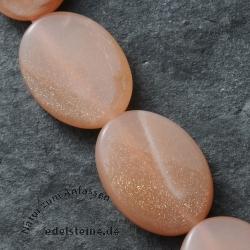 Mondstein Perlen Twist Oval AA-Qualität