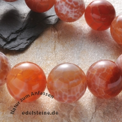 Gemstone-Beads Fire Agate Round 18mm