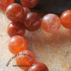 Gemstone-Beads Fire Agate Round 12mm A-Quality