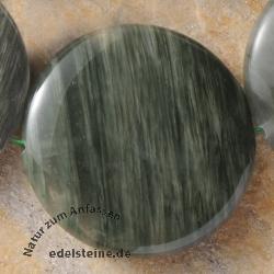 Grüner Streifenachat Einzel Perle Disc 40x10mm