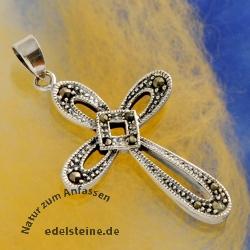 Silber Kreuz Markasit