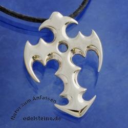 Silber Kreuz Tribal
