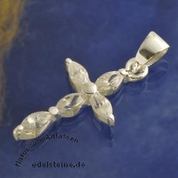 Silber Kreuz Bergkristall