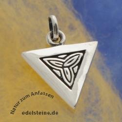 Celtic Silver Pendant Triquetra
