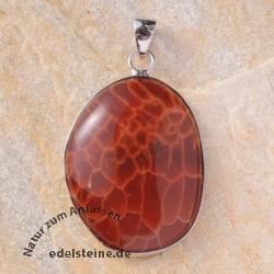 Fire Agate Silver-Pendant