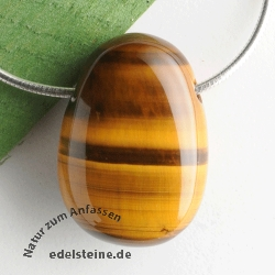 Tiger Eye gold Pendant AA