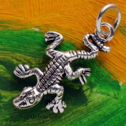 Gecko Silber Charm Silber 925