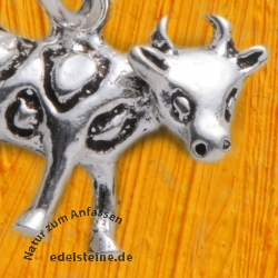 Sterling silver 925 pendant cow