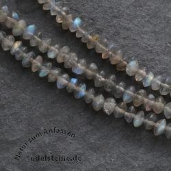 Labradorit Kette, Halskette aus Spektrolith Labradorit 4mm Perlen