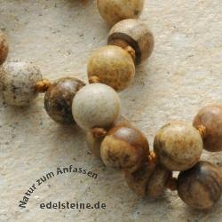 Halskette Landschaftsjaspis 60cm 8mm Perlen
