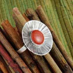 Silver ring coral cup   Ketta
