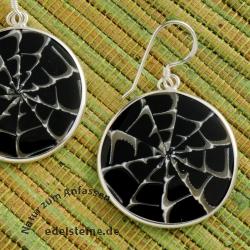 Spider Muschel Ohrhänger mit Silber 7