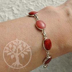 Coral silver bracelet 2