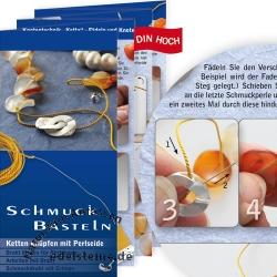 Bastelanleitung Schmuck Basteln Ketten knüpfen mit Perlseide 50