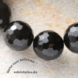 Obsidian Gemstone facetted Bead 10mm