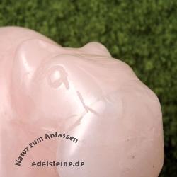 Hippo Figur Rosenquarz