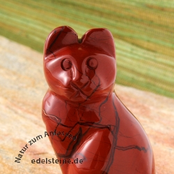 Steinkatze Roter Jaspis