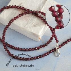 garnet necklace facetted rhodolite silver 925 edelsteine. Black Bedroom Furniture Sets. Home Design Ideas