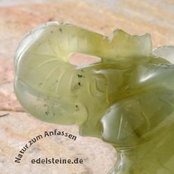 Jade Elefant Figur