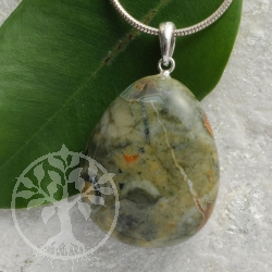 Rhyolite pendant with loop 925