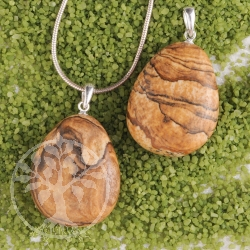 Landscape Jasper pendant with loop 3 pieces