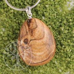Landscape Jasper pendant with loop