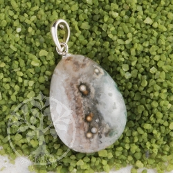 Ocean Jasper pendant with loop 925